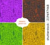halloween sketchy pattern... | Shutterstock .eps vector #219697468