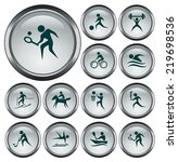 sport button set | Shutterstock .eps vector #219698536