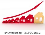 growth in real estate shown on... | Shutterstock . vector #219701512