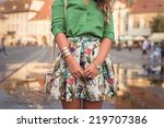 outfit details of fashion... | Shutterstock . vector #219707386