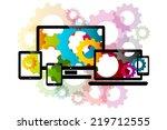 gear settings  | Shutterstock .eps vector #219712555