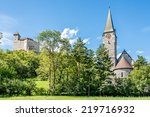 gutenberg castle and church of... | Shutterstock . vector #219716932