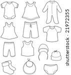 children's clothes | Shutterstock .eps vector #21972355
