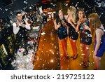 gorgeous women having cocktails ...   Shutterstock . vector #219725122