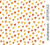 vector watercolor hearts... | Shutterstock .eps vector #219729112
