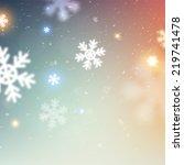 winter christmas blurred bokeh...   Shutterstock .eps vector #219741478