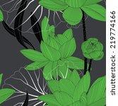seamless lotus flower pattern. | Shutterstock .eps vector #219774166