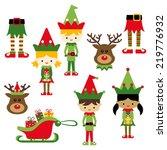 Kids In Elf Costumes. Cute...