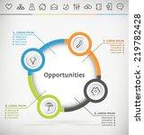 vector template for infographic ... | Shutterstock .eps vector #219782428