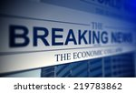 newspaper with breaking news...   Shutterstock . vector #219783862