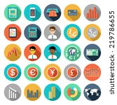 set of flat design icons with... | Shutterstock .eps vector #219786655