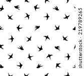 flying birds silhouette black...   Shutterstock .eps vector #219789265