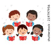 children choir. kids choir... | Shutterstock .eps vector #219797956