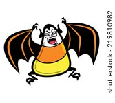 candy corn bat character icon   Shutterstock .eps vector #219810982