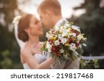 groom and bride together.... | Shutterstock . vector #219817468