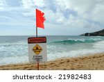 Red Flag And Warning Sign On A...