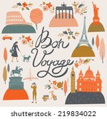 bon voyage print design | Shutterstock .eps vector #219834022