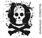 skeleton head   Shutterstock .eps vector #219842746