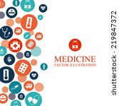 medical graphic design   vector ... | Shutterstock .eps vector #219847372
