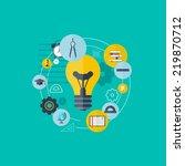 symbol flat concept education... | Shutterstock . vector #219870712