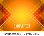 orange abstract background | Shutterstock .eps vector #219872512
