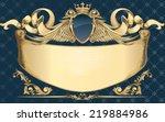 decorative golden insignia | Shutterstock .eps vector #219884986