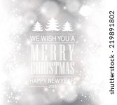 vector merry christmas and... | Shutterstock .eps vector #219891802