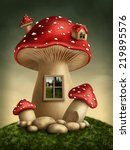 Fantasy Mushroom House In The...