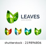 Abstract Eco Leaves Logo Desig...