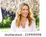 close up portrait of beautiful... | Shutterstock . vector #219909598