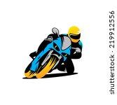 motorcycle races branding... | Shutterstock .eps vector #219912556