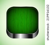 app icon with green wood...