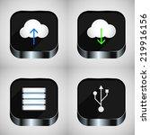 set of communications icons.