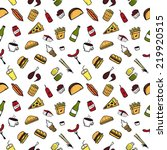 fast food pattern | Shutterstock .eps vector #219920515