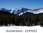mountains in colorado in winter | Shutterstock . vector #2199322