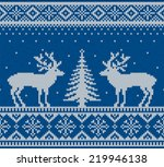 christmas ornamental embroidery ... | Shutterstock .eps vector #219946138