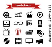 movie icons | Shutterstock .eps vector #219946156