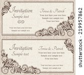 antique baroque wedding... | Shutterstock .eps vector #219957862
