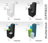 3d infographic template  side... | Shutterstock .eps vector #219958225