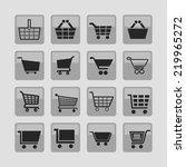 cart icon set | Shutterstock .eps vector #219965272
