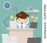 businessman multitasking at... | Shutterstock .eps vector #219972586