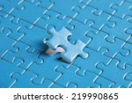 the missing piece of puzzle ... | Shutterstock . vector #219990865
