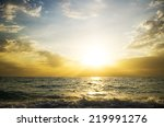 Sunset On The Sea. Nature...