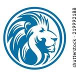 Stock vector lion head circle 219992188