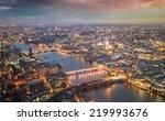 london night skyline aerial... | Shutterstock . vector #219993676