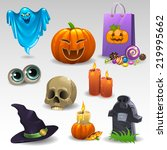 halloween set 2 | Shutterstock .eps vector #219995662