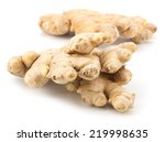 fresh ginger isolated on white... | Shutterstock . vector #219998635