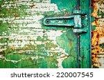 Texture Metal Door With Hinge...
