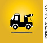 service car with a crane icon... | Shutterstock .eps vector #220019122