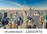 new york city manhattan aerial... | Shutterstock . vector #220023976